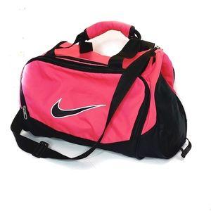 Nike Black and Hot Pink Gym Bag